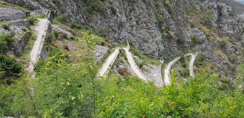 the Ladder of Kotor, a hiking path