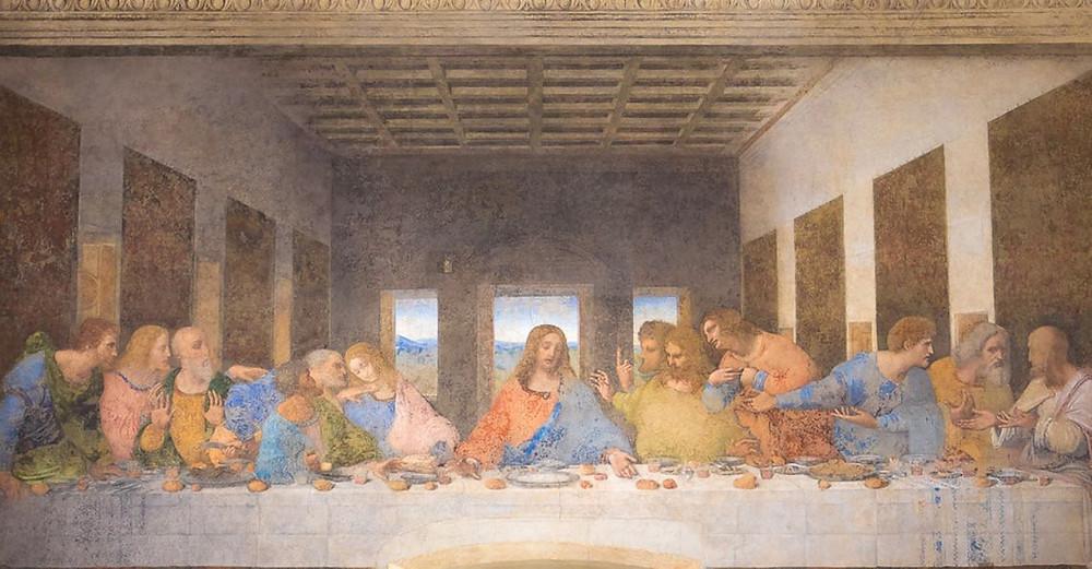 Leonardo da Vinci, The Last Supper, 1498 -- in Santa Maria delle Grazie