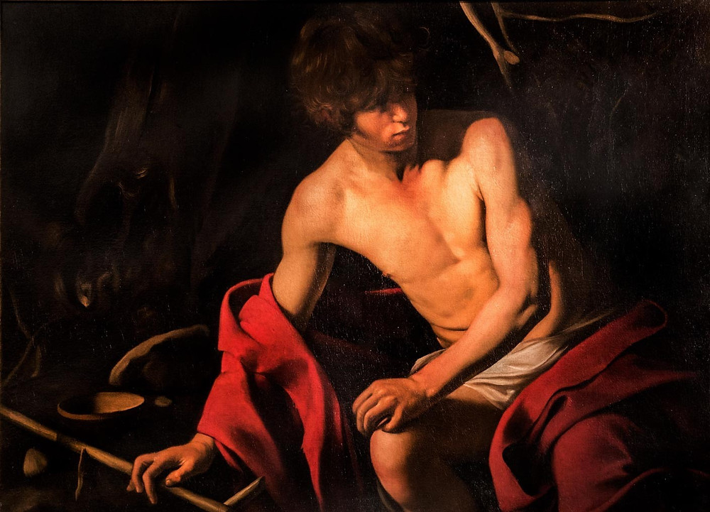 Caravaggio, St. John the Baptist, 1602