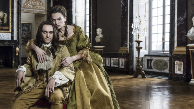 Louis XIV and his mistress Madame de Montespan on the BBC show Versailles