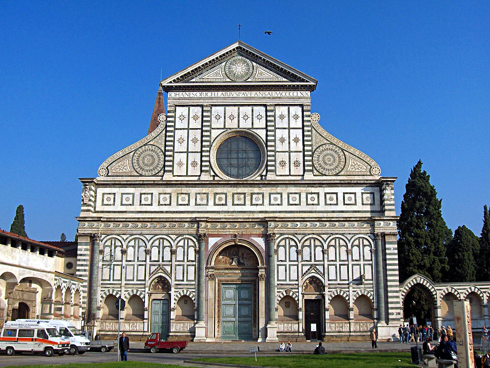 the facade of Santa Maria Novella