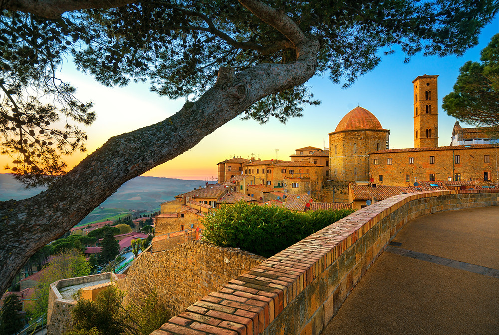 the ancient Etruscan town of Volterra in Tuscany