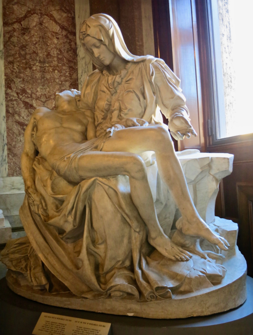 copy of Michelangelo's Pieta in the Vatican Pinacoteca