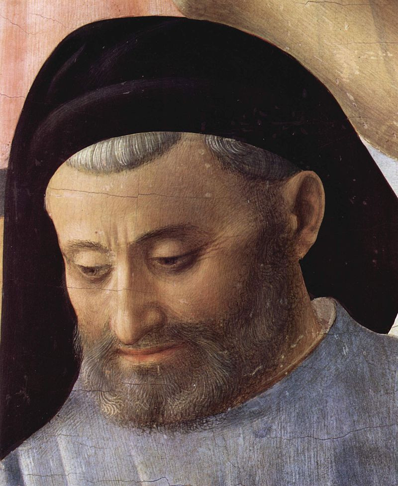 Fra Angelico, Portrait of Michelozzo in his Deposition, 1396 -- in San Marco