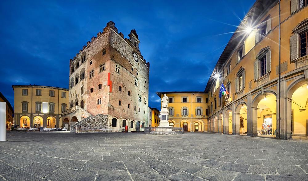 Piazza del Comune square in Prato