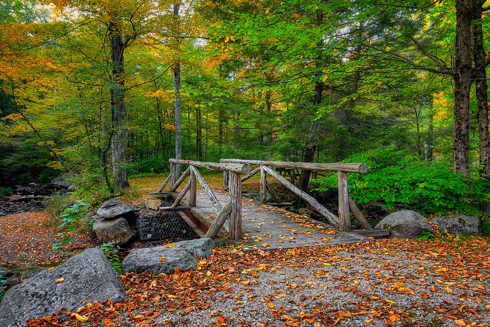 early fall at Macedonia Brook State Park in Kent Connecticut