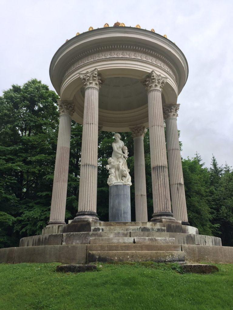 the Greek Temple in the Linderhof Palace Gardens