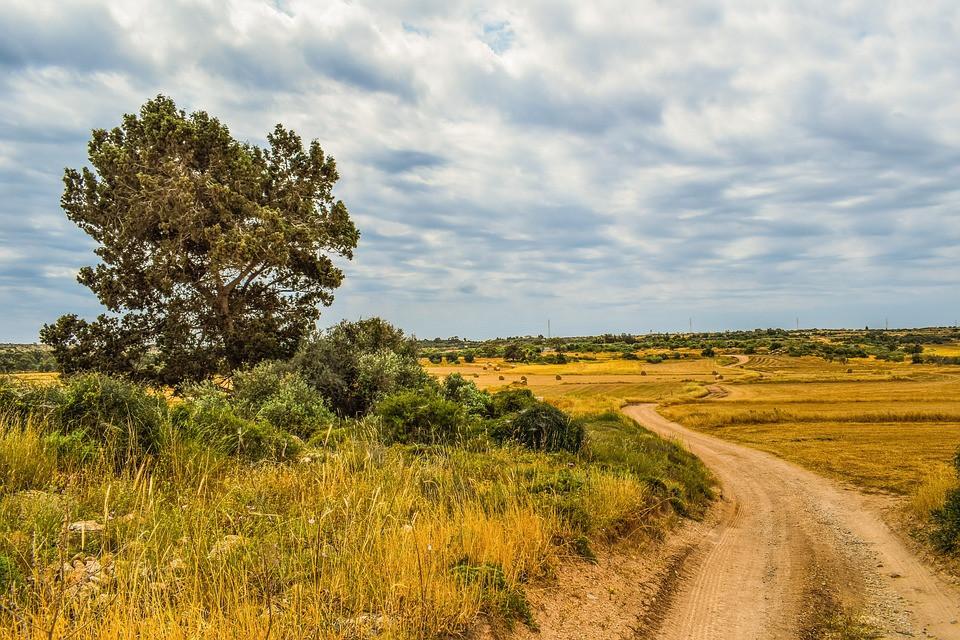 a dirt road in rural Croatia