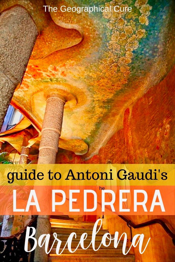 Antoni Gaudi's La Pedrera, a must see UNESCO site inBarcelona Spain