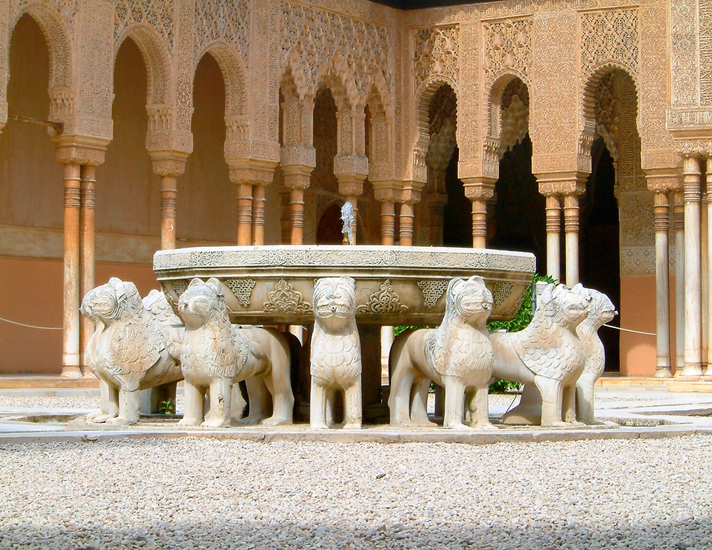the iconic fountain in the Courtyard of the Lions in the Nasrid Palace