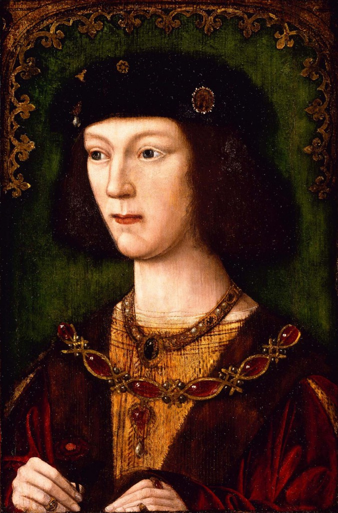 Henry VIII by Unknown Artist, 1509 -- when Henry was just 18 and the only portrait where Henry is given a receding chin