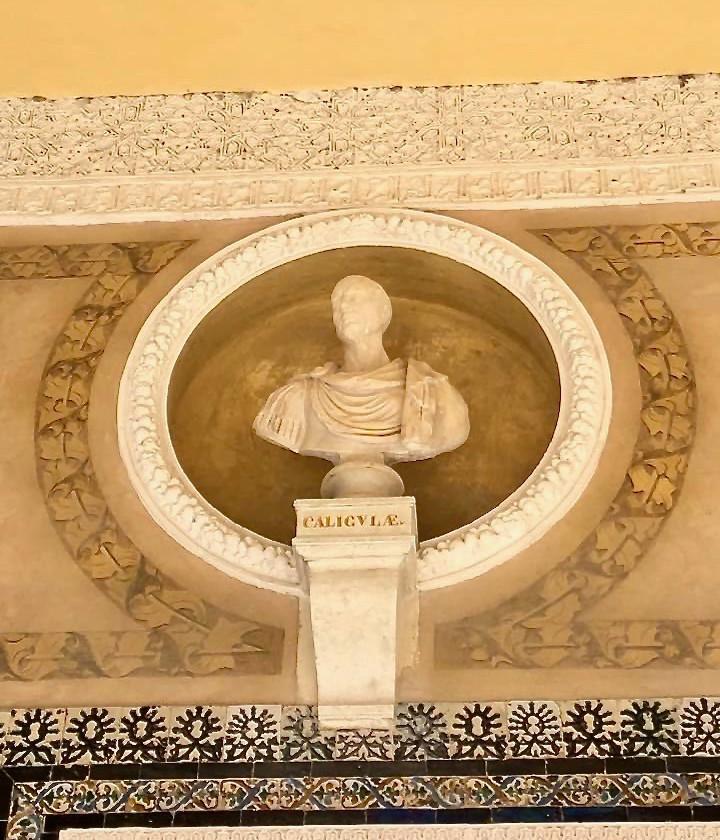 Caligula bust in the Casa de Pilatos