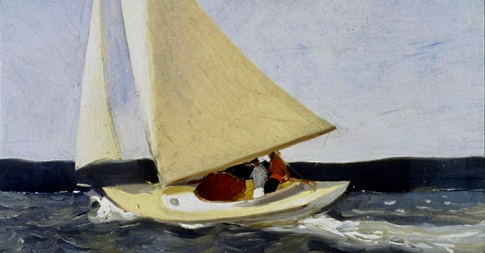Edward Hopper, Sailing, 1913 -- the first painting Hopper ever sold