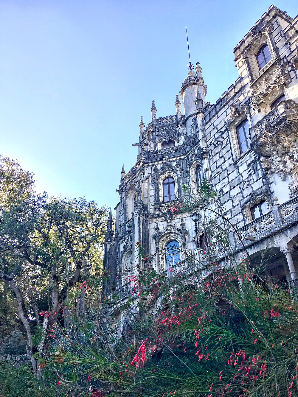 the Gothic and Manueline palace of Quinta de Regaleira