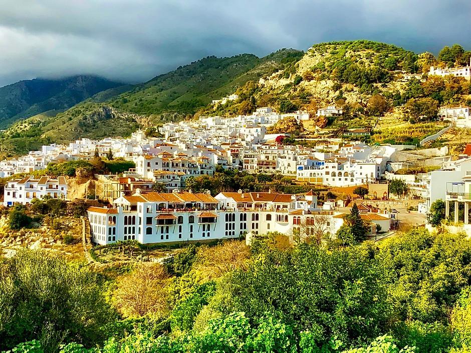 the white pueblo village of Frigiliana in Andalucia Spain