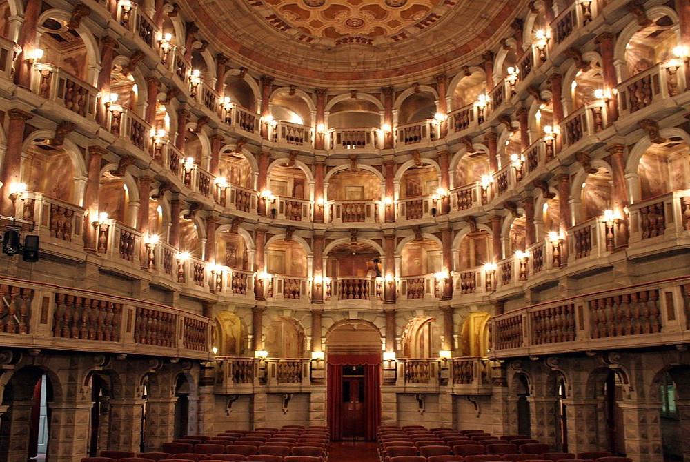 Teatro Bibiena, a little jewel box of a theater