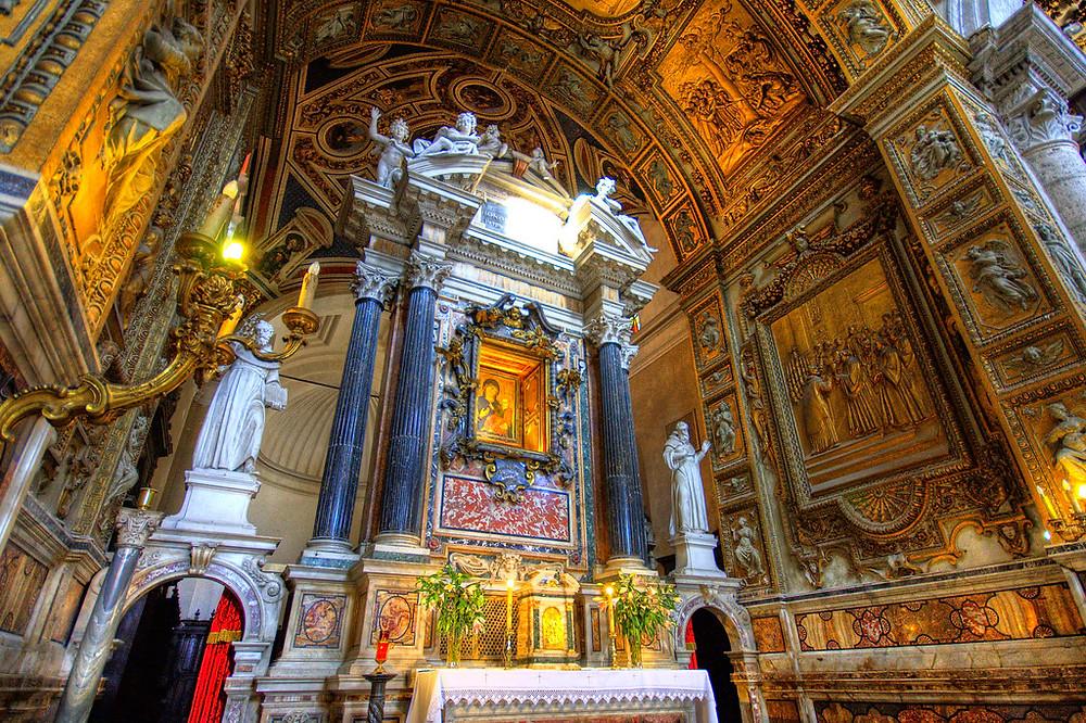 high altar, designed by Bernini