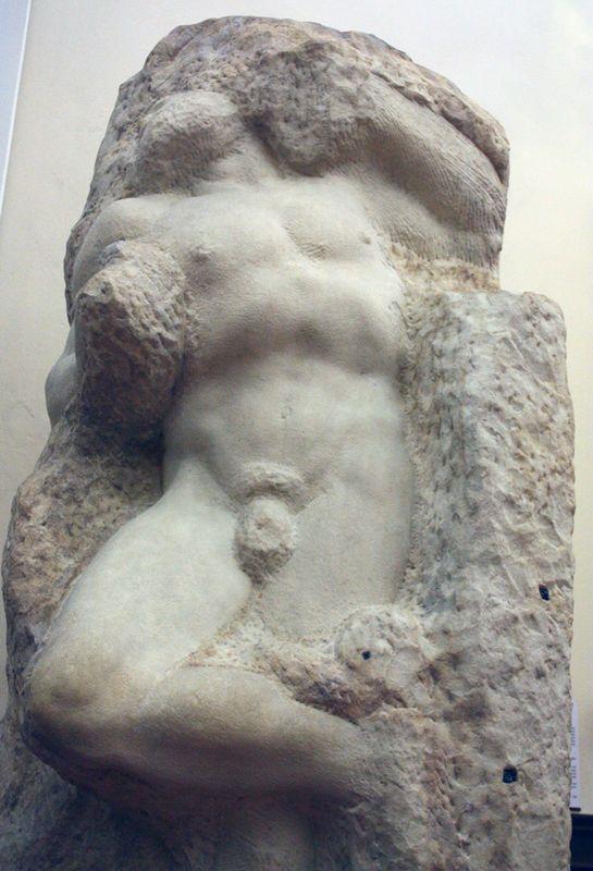 Michelangelo, Awakening Slave, 1520-23