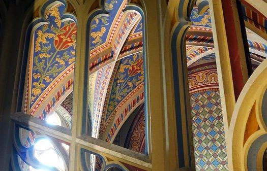 colorful interior of Matthias Church