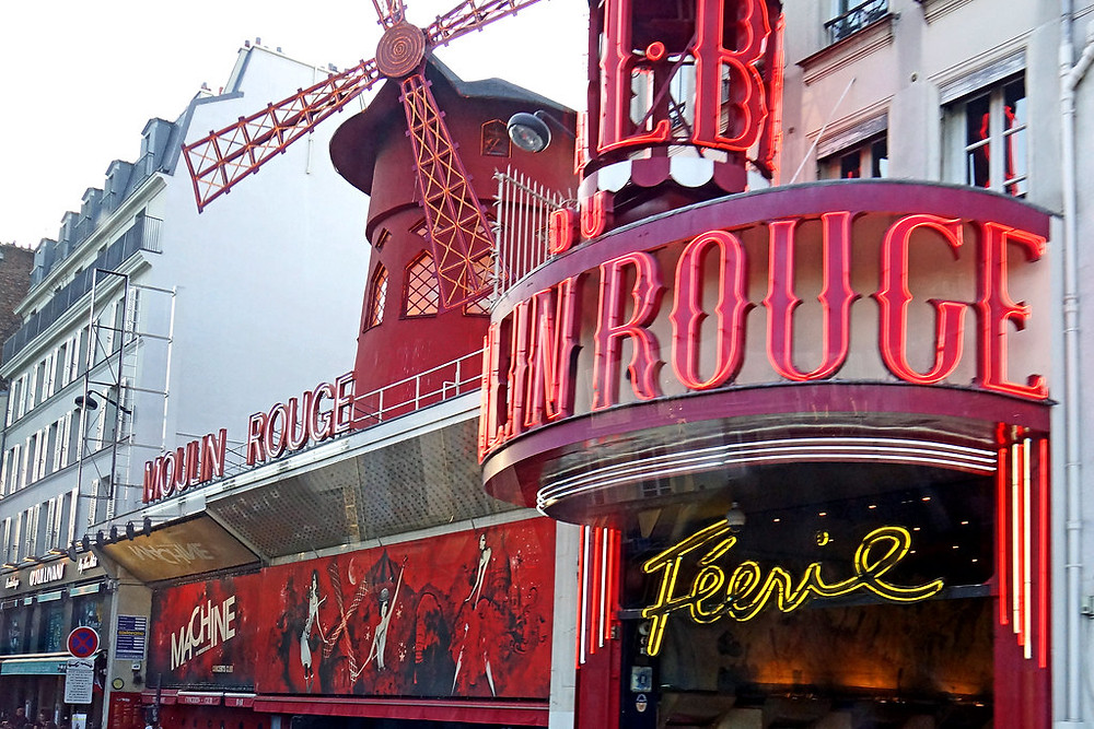 the modern day Moulin Rouge, which is now a tourist trap