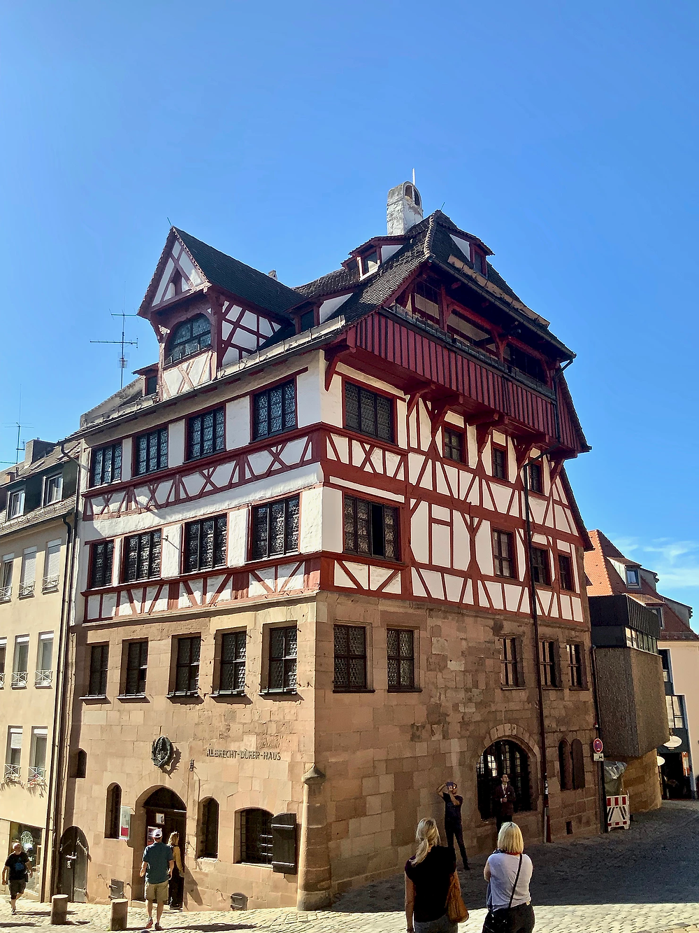 Albrecht Durer Museum in Nuremberg. Check your bag if you want to enter.