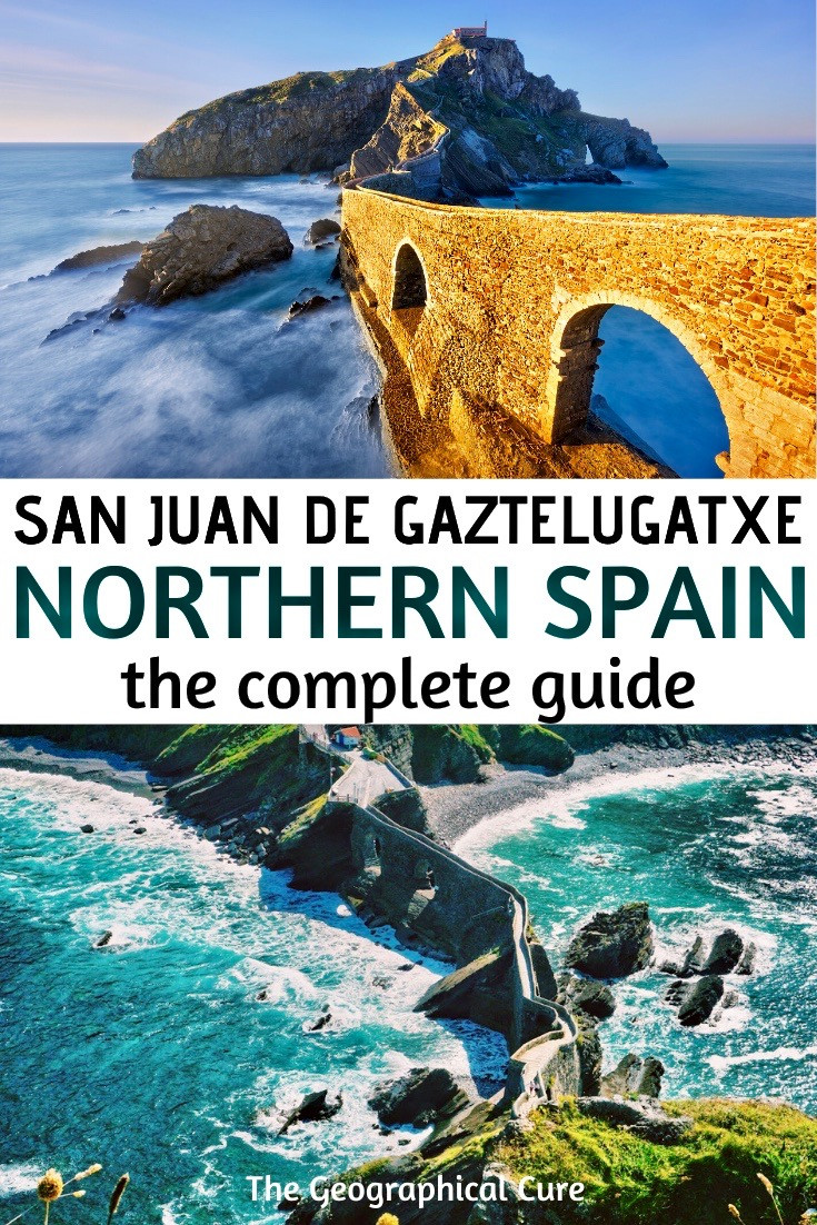 San Juan de Gaztelugaatxe , a magical pace in northern Spain on the Basque coast