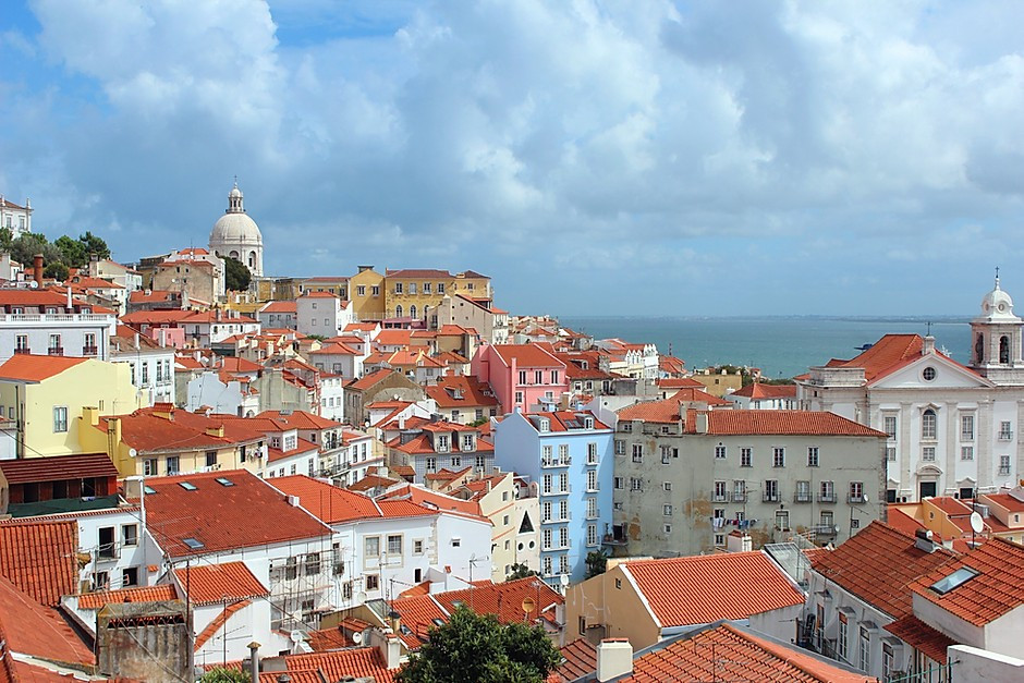 aerial view of Lisbon's Alfama district