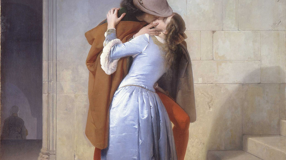 Francesco Hayez, The Kiss, 1859 -- in the Pinacoteca di Brera