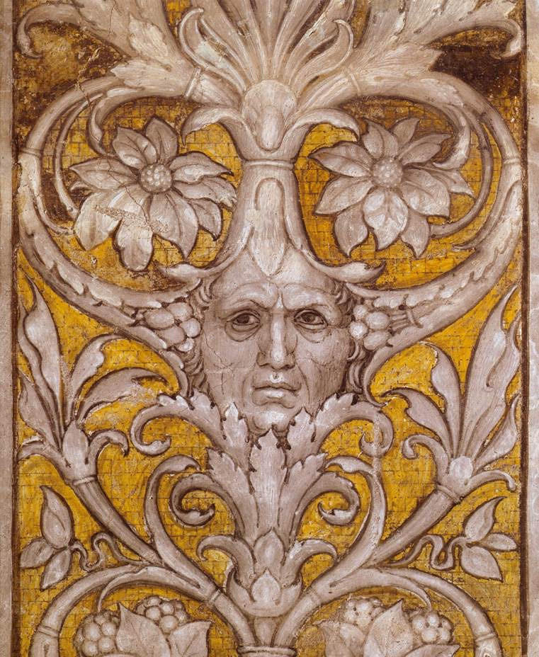 Mantegna self-portrait in the Meeting Scene