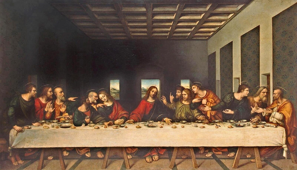 Giampietrino, The Last Supper, 1520 -- copy of Leonardo's Last Supper