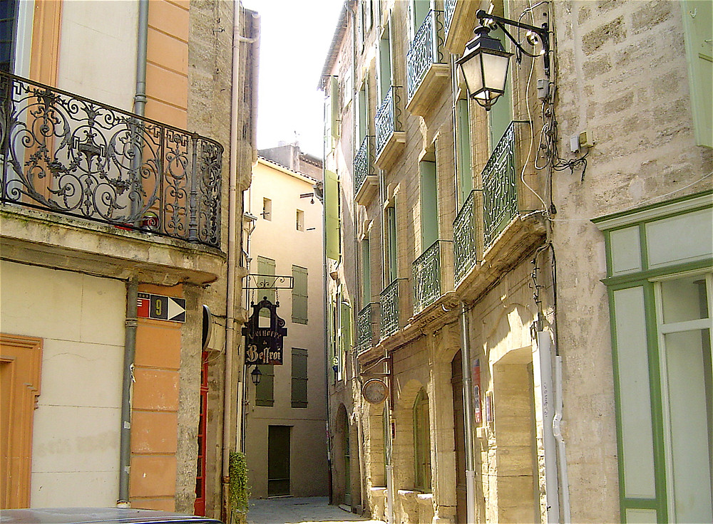 the village of Pézenas in Occitanie France