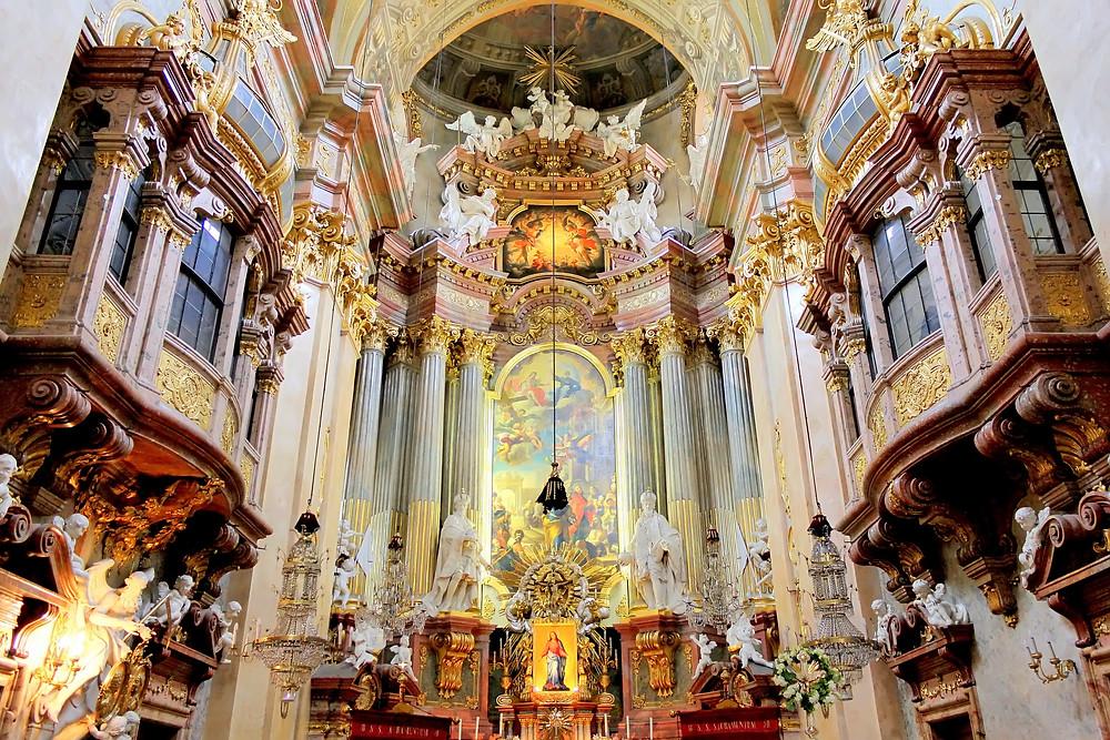 beautiful interior of St. Peter's Basilica