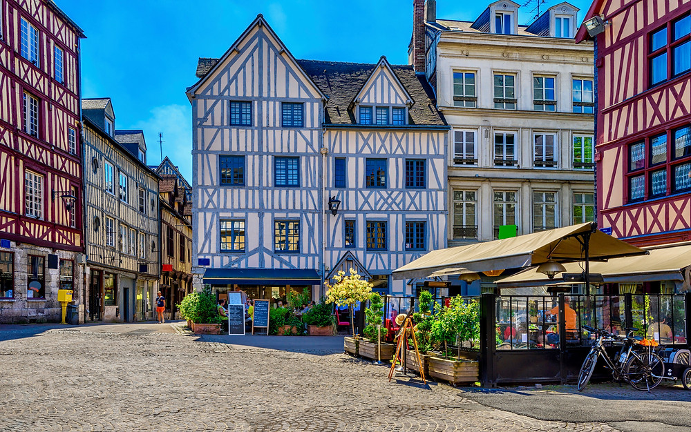 beautiful half timbered architecture in Rouen