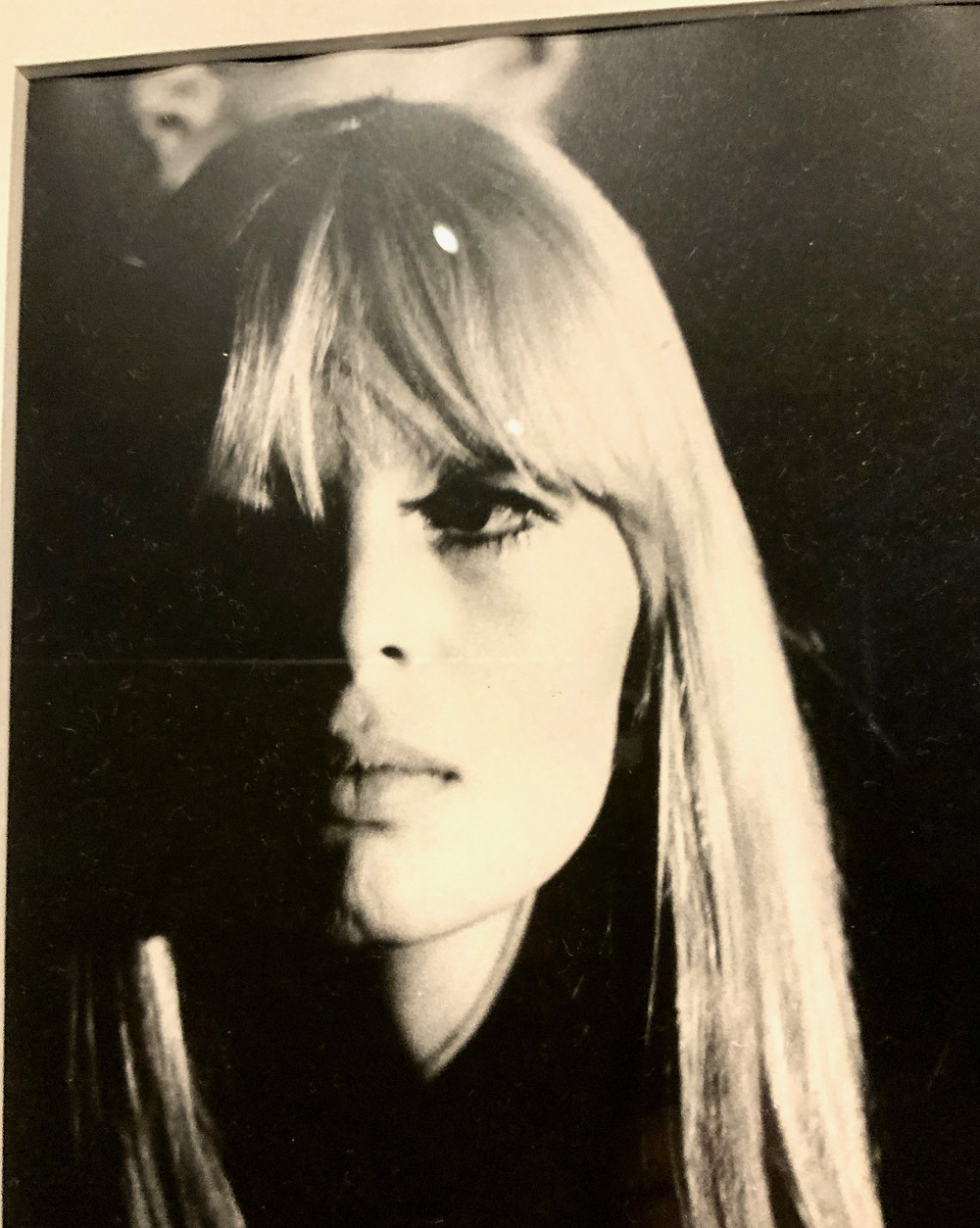 photo of Nico from the Chelsea Girls film at the Warhol Museum