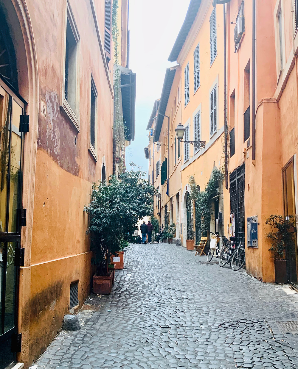 street in Rome's beautiful Trastevere district