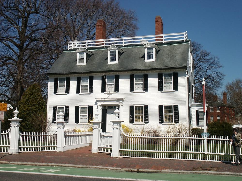 the Ropes Mansion in Salem