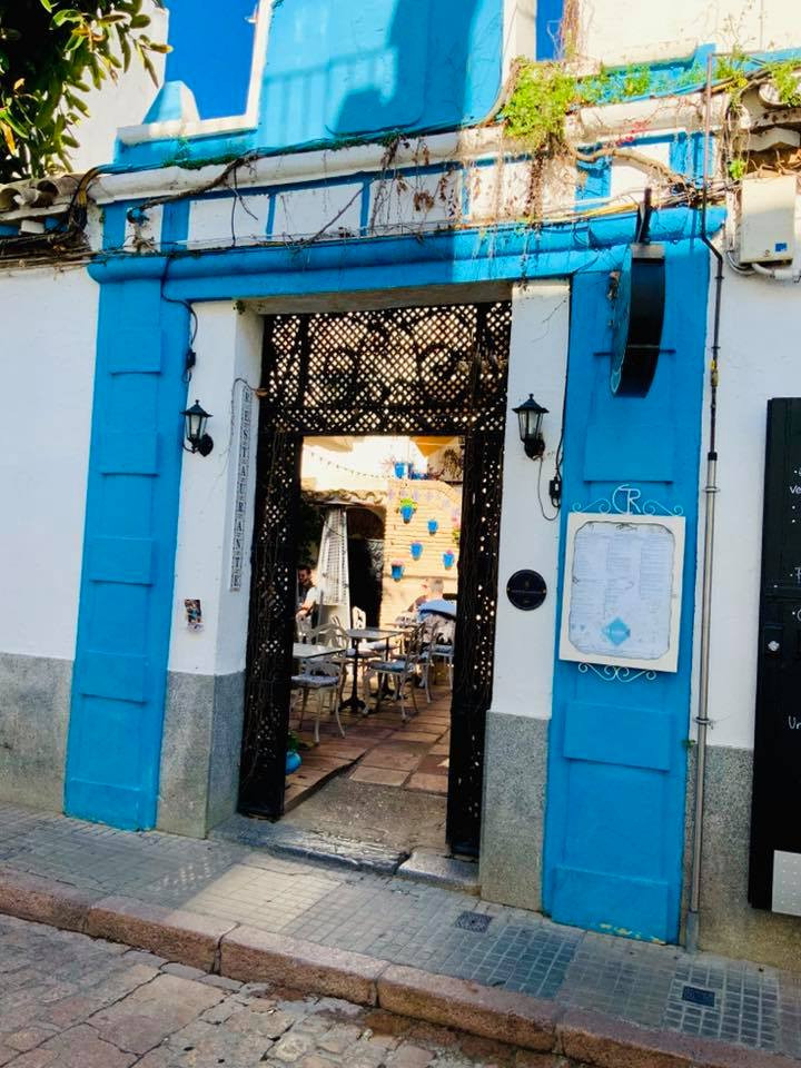 the entrance to El Rincon de Carmen, a restaurant in Cordoba's Jewish Quarter