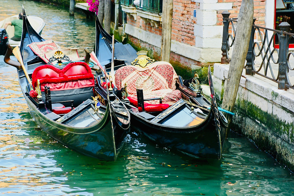 pretty gondolas in Venice