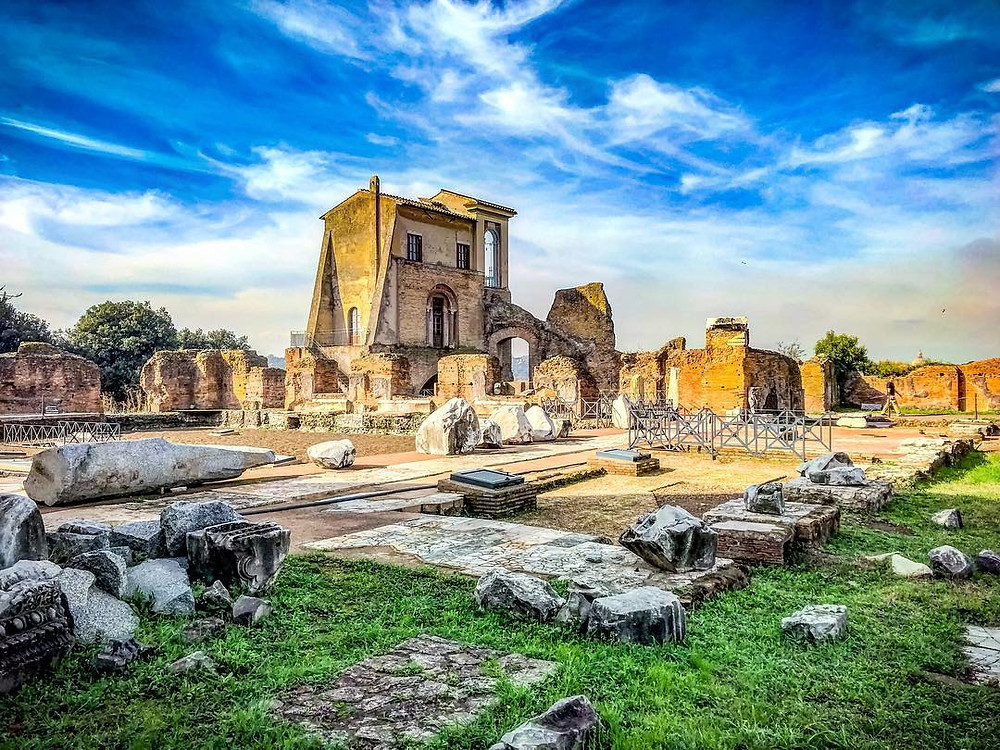 ruins on Rome's Palatine Hill