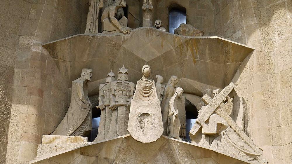 the Passion Facade of Sagrada Familia