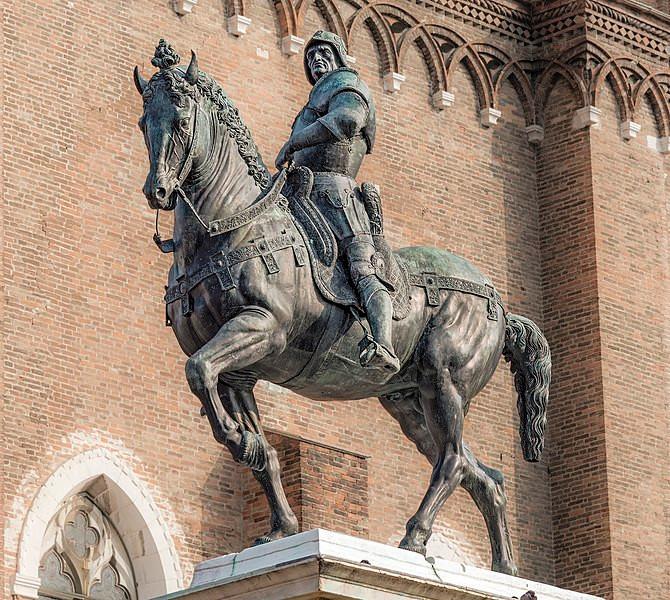 Verrocchio equestrian statue in Venice