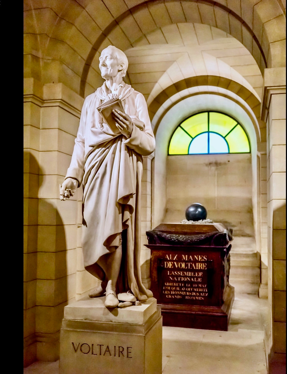 Voltaire's tomb in the Pantheon