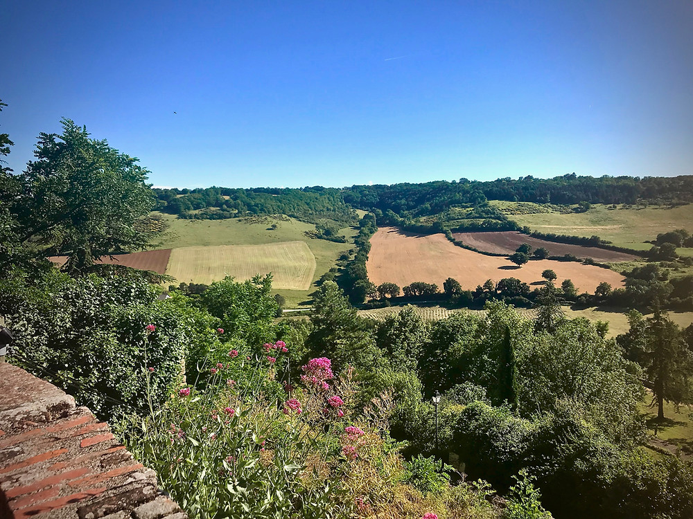 view of the countryside from the top of Cordes Sur Ceil