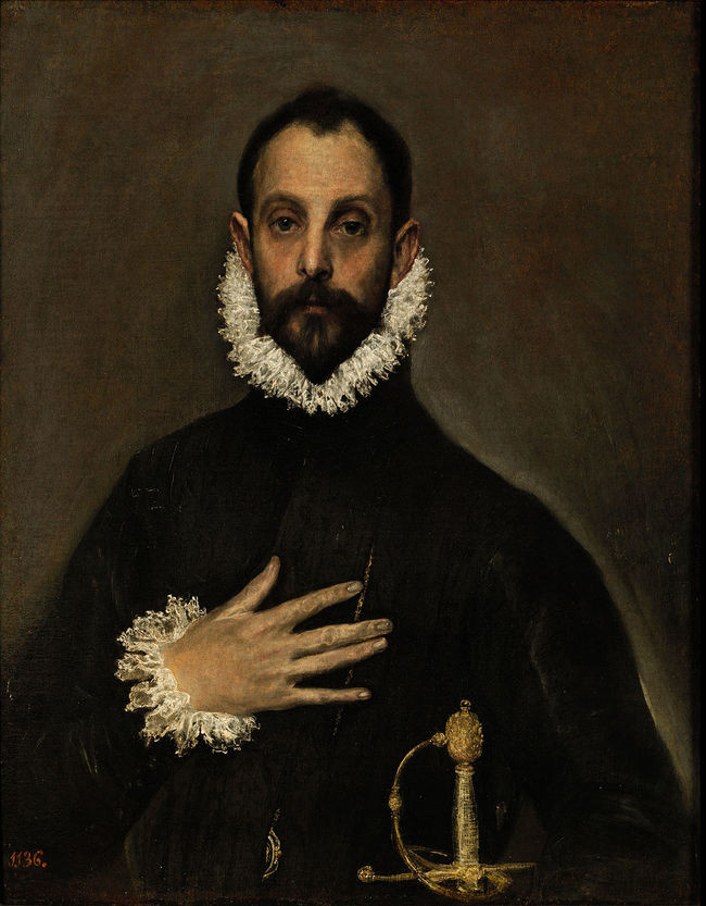 El Greco, Gentleman with his Hand on his Chest, 1580