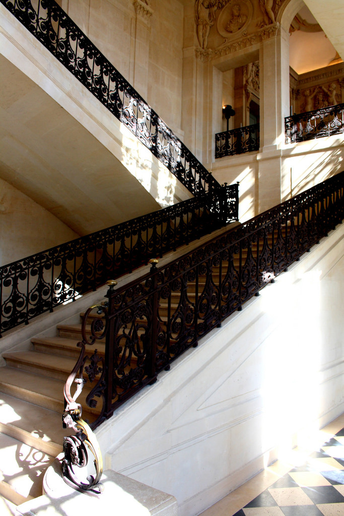 the beautiful limestone interior and wrought iron staircases of Paris' Picasso Museum