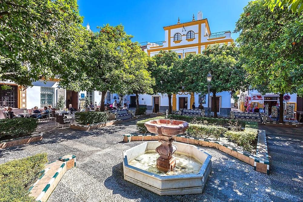 Plaza Dona Elvira in the Barrio Santa Cruz