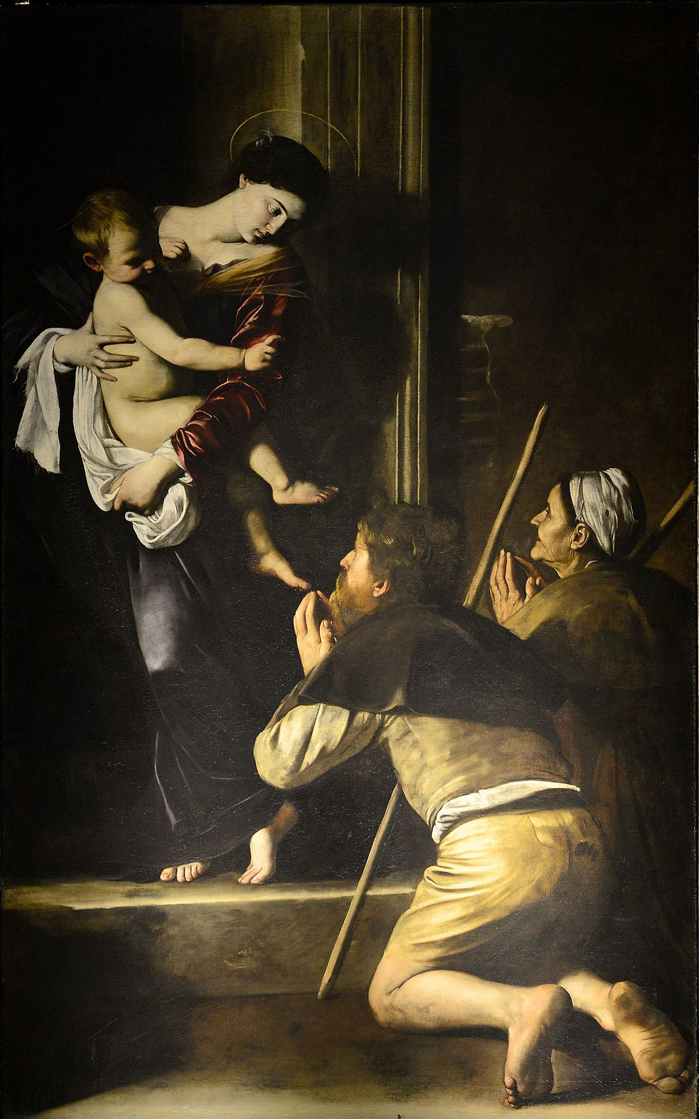Caravaggio, Madonna di Loreto - Pilgrim's Madonna,1604-1606)