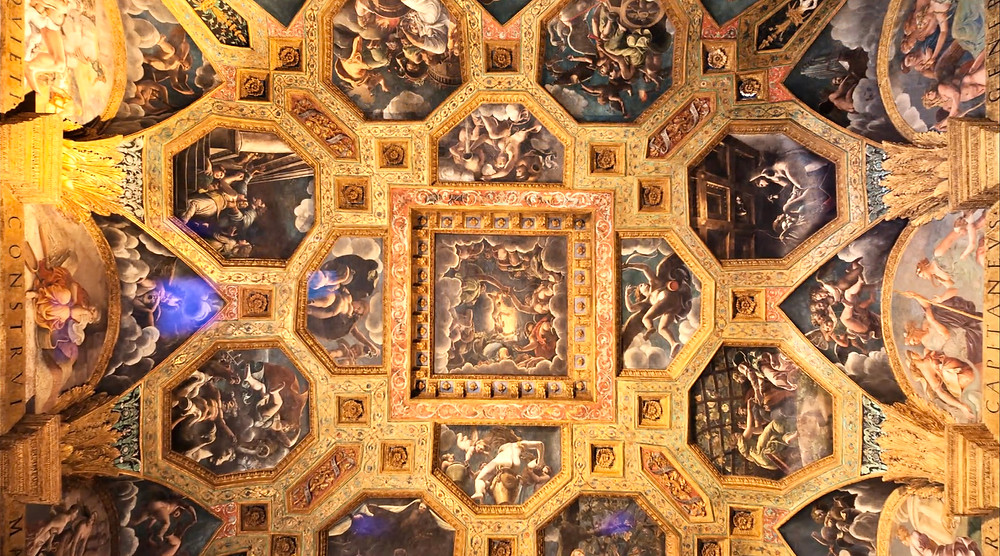 ceiling of the Hall of Cupid and Psyche