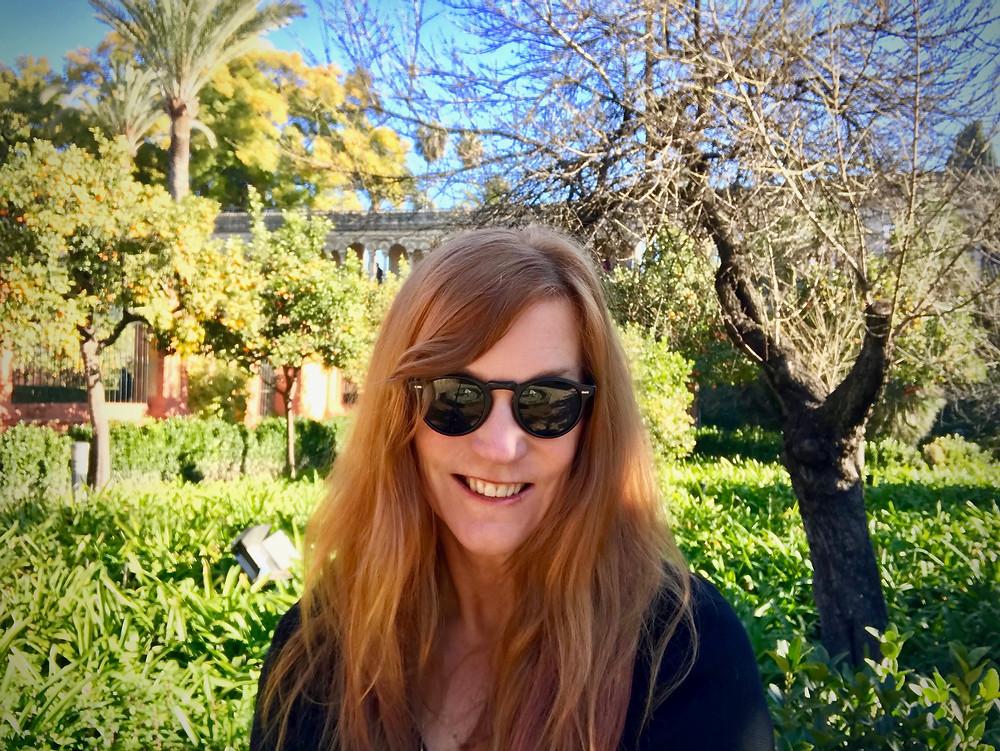 me, admiring the Alcazar Gardens