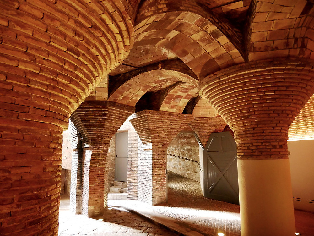 the basement of Palau Güell
